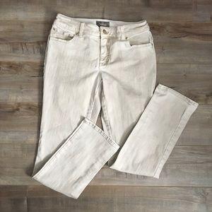 Chico's So Slimming Tan/Cream Jeans